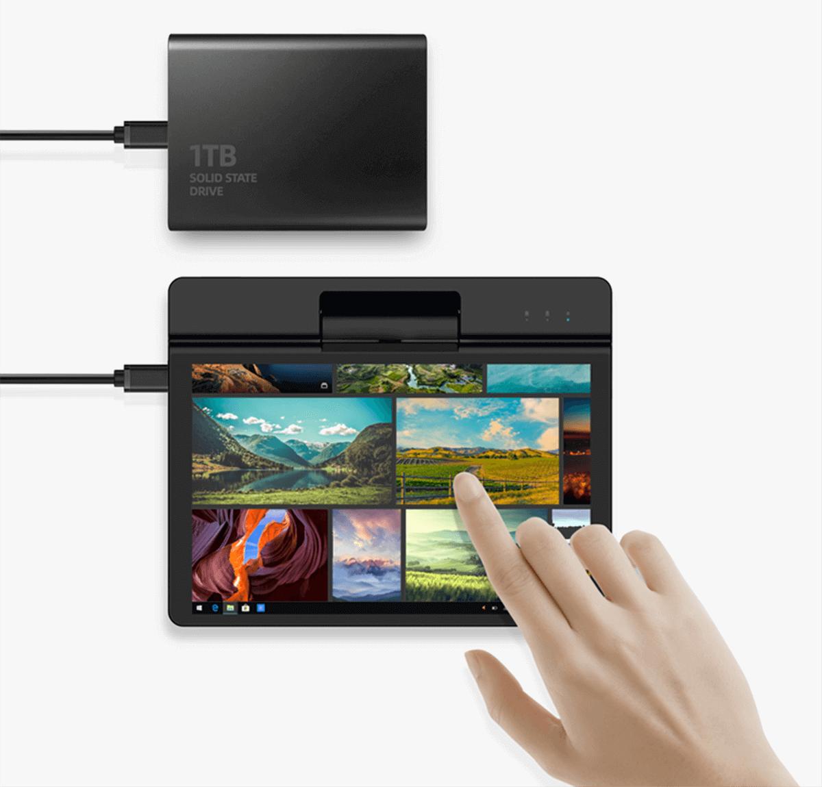 ビデオ出力、データ送信、急速充電、USB機能拡張に対応したType-Cポート