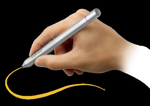 2048段階で筆圧を検知するスムーズな書き心地